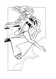 supergirl comic colouring colouring book