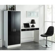 bureau 130 cm manager bureau contemporain noir et blanc l 130 cm achat