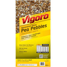 Sq Ft To Ft Vigoro 0 5 Cu Ft Pea Pebbles 54255 The Home Depot