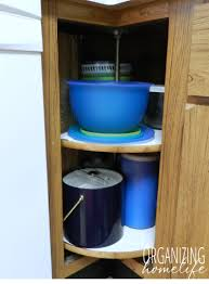 how to organize corner kitchen cabinets organizing a corner kitchen cabinet organize your kitchen