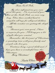 illustration of a letter from santa claus royalty free cliparts