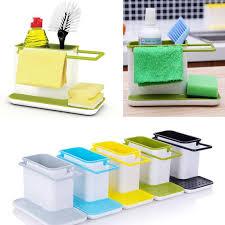 kitchen sink cabinet sponge holder kitchen plastic organizer sink cabinet soap sponge brush holder storage rack