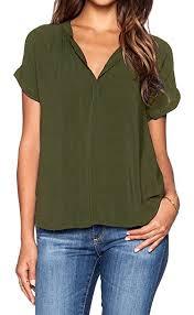 green chiffon blouse lilbetter chiffon blouse v neck sleeve top shirts at