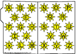 preschool printables file folder bright and sunny letters