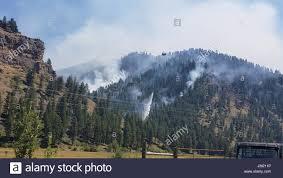 Wild Fires In Montana July 2017 by Rock Creek Usa 22nd July 2017 A Firefighting Plane Drops Water