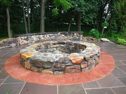 Corner Fire Pit by Awesome Corner Fire Pit Decoration Ideas Feature Gray Stone Wall