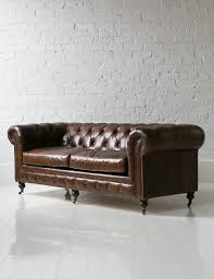 chesterfield sofa leather vintage leather chesterfield 3 seater sofa grey