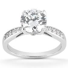 2 carat white gold engagement ring 1 1 2 carat cz classic engagement ring in 14k white gold