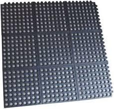 4 pack interlocking rubber floor mats 3 ft square commercial