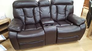 woodville two seater console recliner