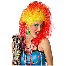Halloween Costume Wigs True Colors 80s Wig Big 80s Hair Halloween Costume Wigs Polyvore