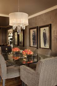 Dining Room Chandeliers Contemporary The Walls Are Layers Of Lusterstone And We Had The Decorative