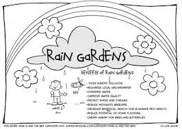 flood coloring pages hank d and the bee rain garden coloring sheet