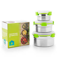 Metal Containers With Lids For Storage - amazon com lunch box containers eco stainless steel bento box