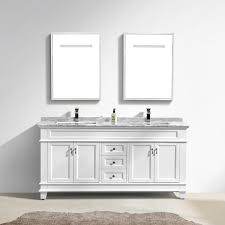 White Bathroom Vanity With Carrera Marble Top by Moreno Fayer 72