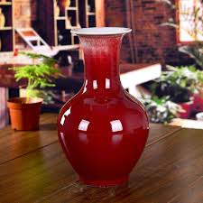 Small Red Vases Aliexpress Com Buy Ceramics Kiln Red Small Vase Home Accessories