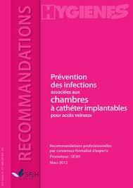 cotation perfusion sur chambre implantable sf2h recommandations prevention des ia aux chambres a catheter