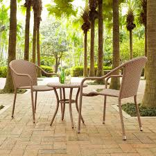 crosley ko70060lb palm harbor 3 piece outdoor wicker cafe seating