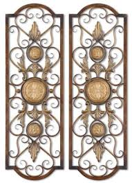 Uttermost Metal Wall Decor Tuscan Tall Scrolling Wrought Iron Wall Grill Set Of 2 By