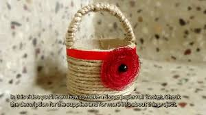 How To Make Home Decoration Things How To Make A Tissue Paper Roll Basket Diy Home Tutorial