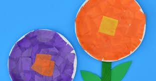 tissue paper flower craft the kindergarten connection