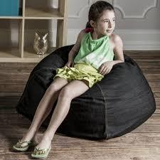 jaxx denim kids club 2 5 u0027 bean bag chair u0026 reviews wayfair