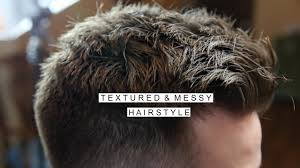 textured messy hairstyle men u0027s short hair with fade cool