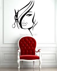 hot sexy girl hair spa beauty salon wall art sticker decal diy see larger image
