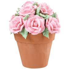 cakes candy and flowers bouquet of roses flower pot cake wilton