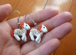 my pony earrings custom my pony clay miniature earrings so want