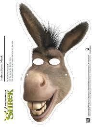 free printable shrek donkey mask trunk or treat pinterest