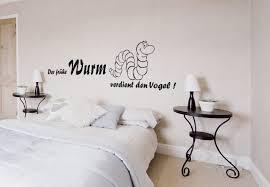 wandtatoos schlafzimmer der frühe wurm verdient den vogel lustiges wandtattoo für küche