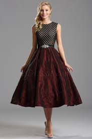 vintage burgundy tea length dress cocktail dress x04151317