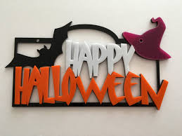 happy halloween sign spooky door sign pumpkin sign halloween