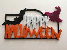 Spooky Halloween Door Decorations by Happy Halloween Sign Spooky Door Sign Pumpkin Sign Halloween