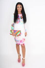 rebecca rhoades rita white u0026 pastel floral print backless long