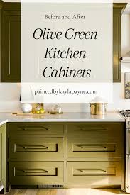 benjamin green kitchen cabinets olive green kitchen cabinets painted by payne