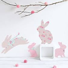 Girls Bedroom Artwork Children U0027s Rabbit Wall Stickers By Koko Kids Notonthehighstreet Com