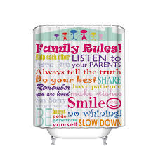 fun shower curtain promotion shop for promotional fun shower family rules each each other have fun smile honest polite polyester fabric bathroom shower curtain