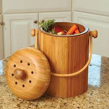 compost canister kitchen odor free bamboo compost keeper with filter kitchen compost bins