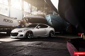 brz subaru silver reworked subaru brz gets minor upgrades and custom rims by vossen