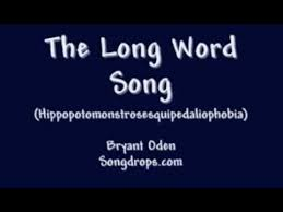Words That Rhyme With Table Funny Song 3 The Long Word Song Youtube