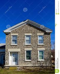 wisconsin cobblestone house editorial stock image image 68165424