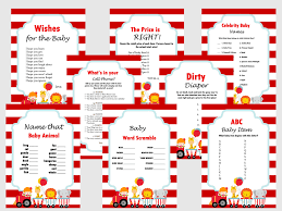 circus carnival themed baby shower game magical printable