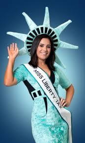 Lady Liberty Halloween Costume Liberty Tax Delegation Celebrate Anniversary Statue