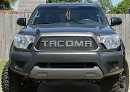toyota tacoma blacked out 2012 15 toyota tacoma mesh grill insert by customcargrills