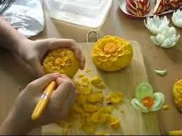 5 hr class in fruit sculpture vegetable carving 5 hr class to 4 day intermediate