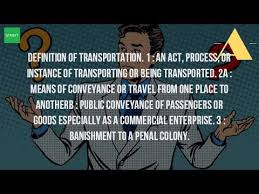 what does the word transportation