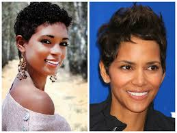 best short hairstyle pixie for black women round face shape hair