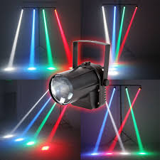 edge lighting change color aobo lighting 3w colorful rgb led pin spot stage light disco dj show
